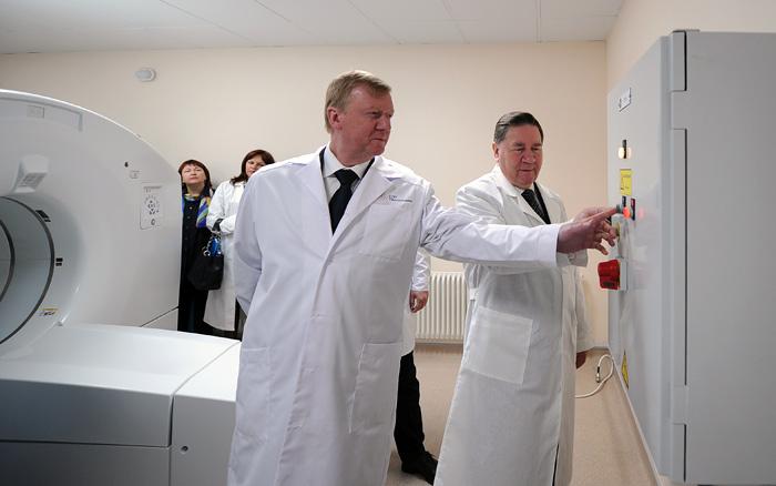 Торжественная церемония открытия Центра ядерной медицины в Курске