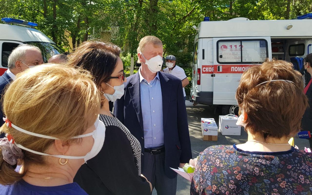 Анатолий Чубайс передал ульяновские тесты на COVID-19 медикам Дагестана