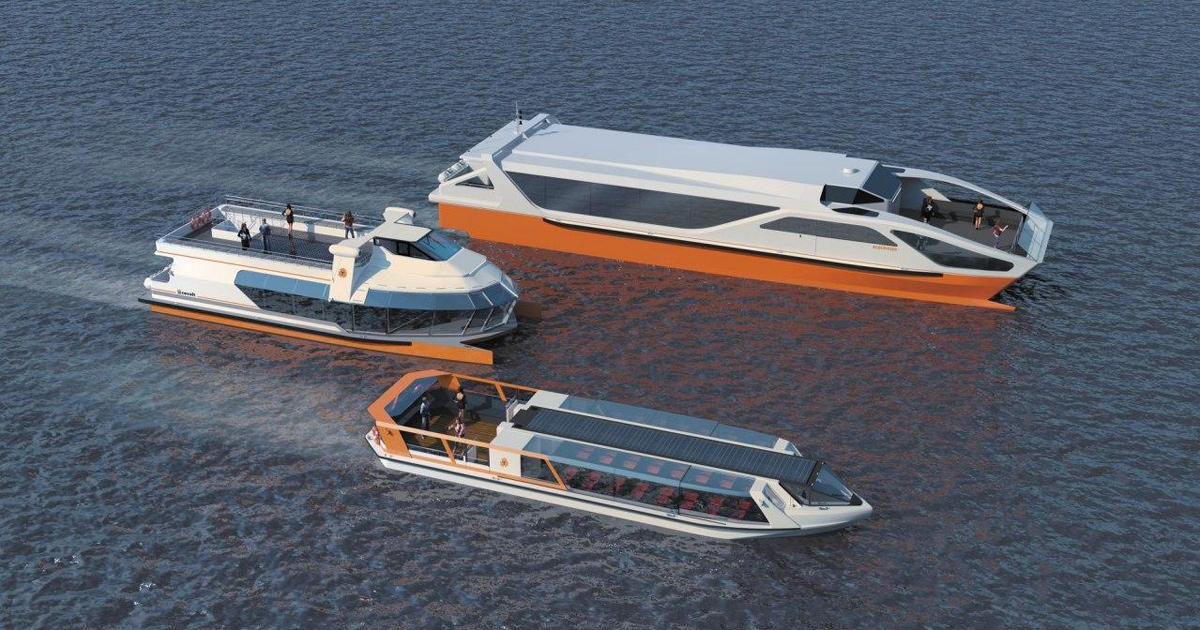 The EcoVolt electric catamaran