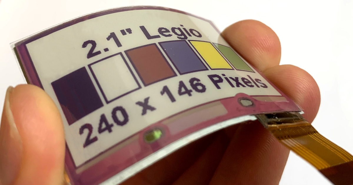 The Russian Center for Flexible Electronics Is a Partner in the Development and Production of the World's First Flexible Display with Full-color Electronic Paper